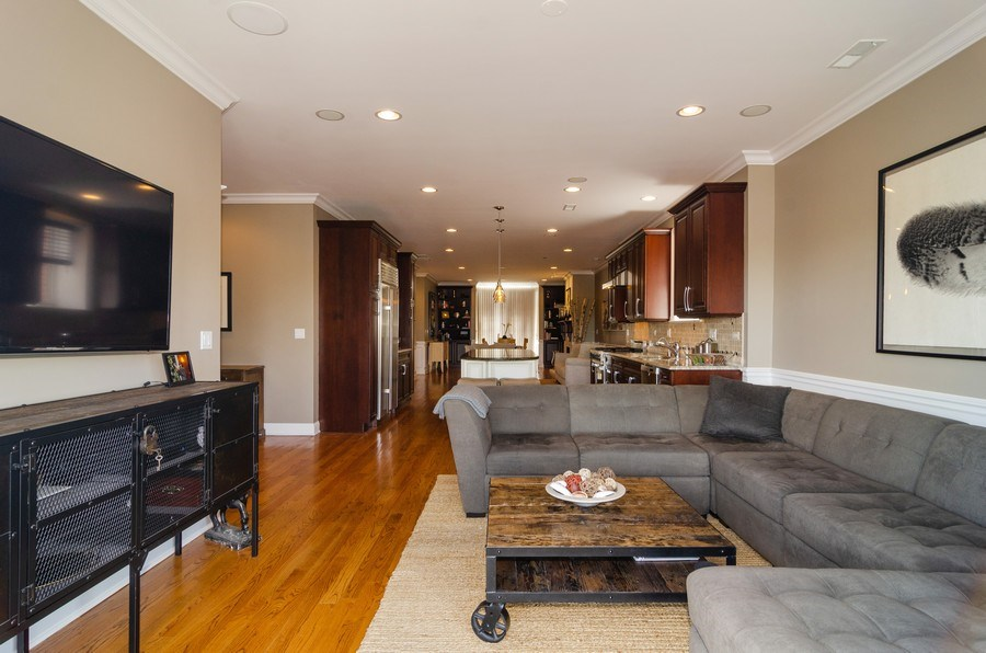 Real Estate Photography - 2620 N. RACINE Avenue, Unit PH, Chicago, IL, 60614 - Family Room / Kitchen
