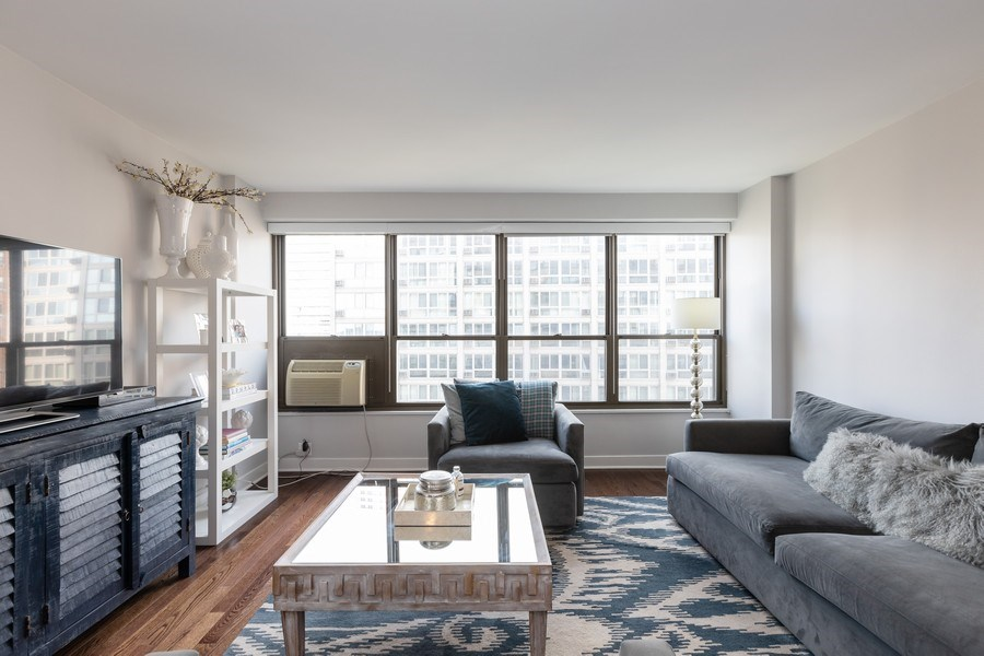 Real Estate Photography - 2930 N. Sheridan Road, Unit 1109, Chicago, IL, 60657 - Living Room