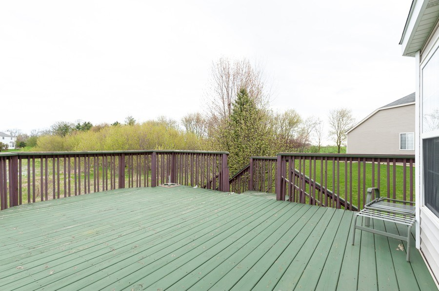 Real Estate Photography - 1200 Jerome Court, Antioch, IL, 60002 - Deck