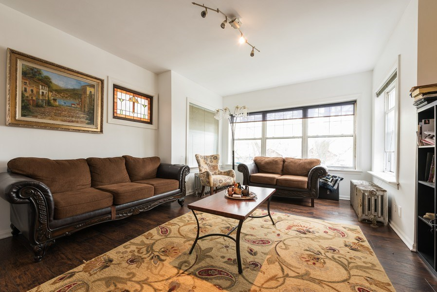 Real Estate Photography - 5837 N. Washtenaw Avenue, Chicago, IL, 60659 - Living Room - 2nd floor