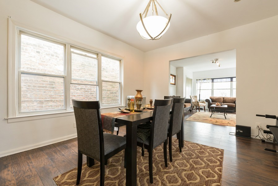 Real Estate Photography - 5837 N. Washtenaw Avenue, Chicago, IL, 60659 - Dining Room - 2nd floor