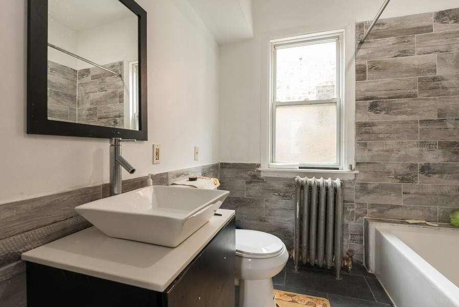Real Estate Photography - 5837 N. Washtenaw Avenue, Chicago, IL, 60659 - Bathroom - 2nd floor