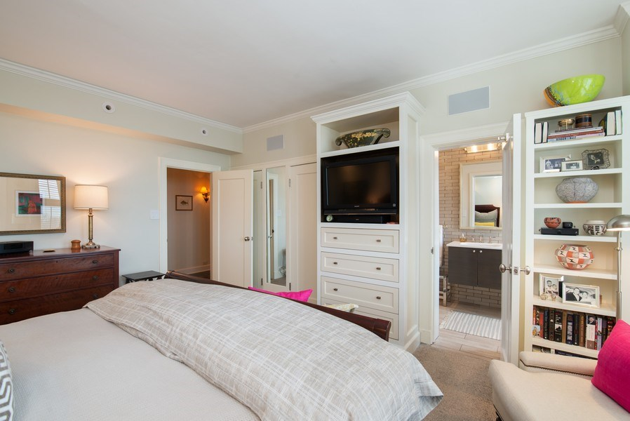 Real Estate Photography - 3530 N. Lake Shore Drive, Unit 11B, Chicago, IL, 60657 - Master Bedroom