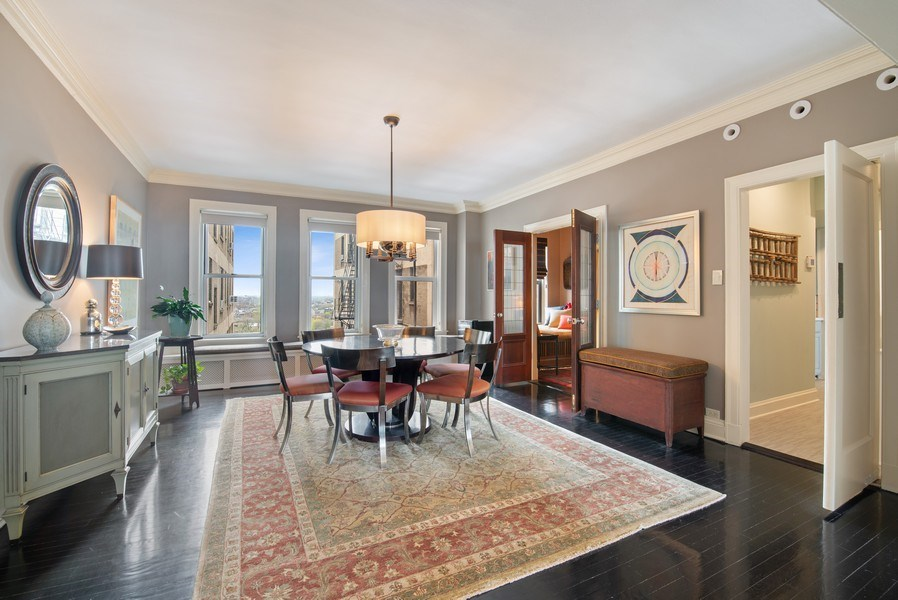 Real Estate Photography - 3530 N. Lake Shore Drive, Unit 11B, Chicago, IL, 60657 - Dining Room