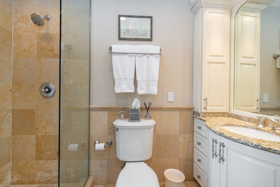 Real Estate Photography - 3530 N. Lake Shore Drive, Unit 11B, Chicago, IL, 60657 - 2nd Bathroom