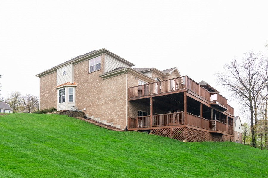Real Estate Photography - 850 Forest Glen Court, Bartlett, IL, 60103 - Rear View