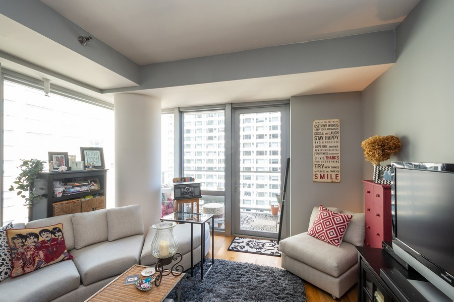 Real Estate Photography - 160 E. ILLINOIS Street, Unit 1903, Chicago, IL, 60611 - Living Room