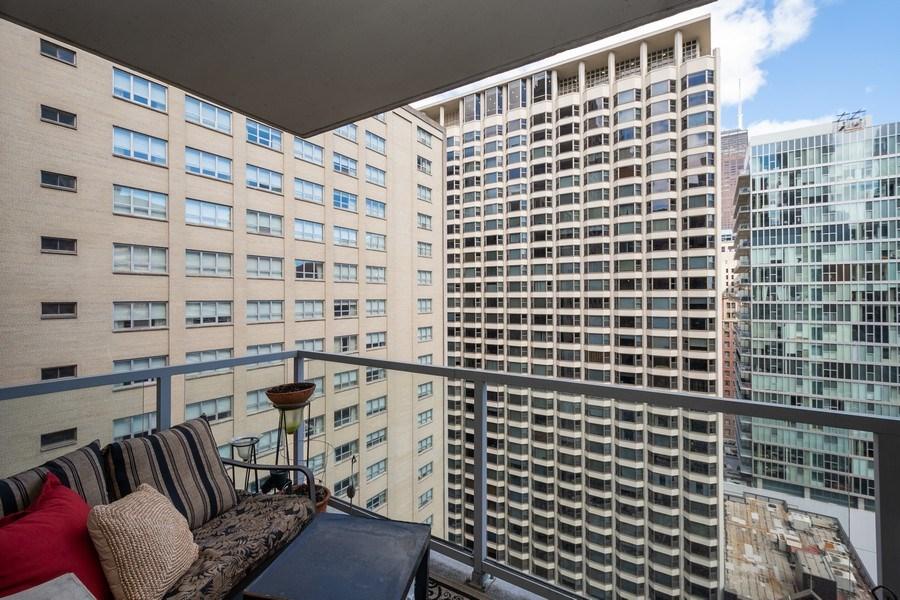 Real Estate Photography - 160 E. ILLINOIS Street, Unit 1903, Chicago, IL, 60611 - Balcony