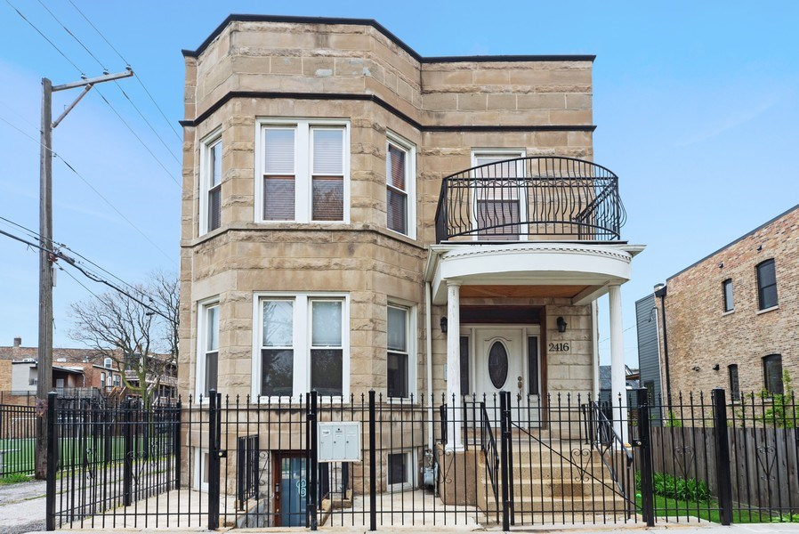 Real Estate Photography - 2416 N. Fairfield Avenue, Unit 2, Chicago, IL, 60647 - Front View