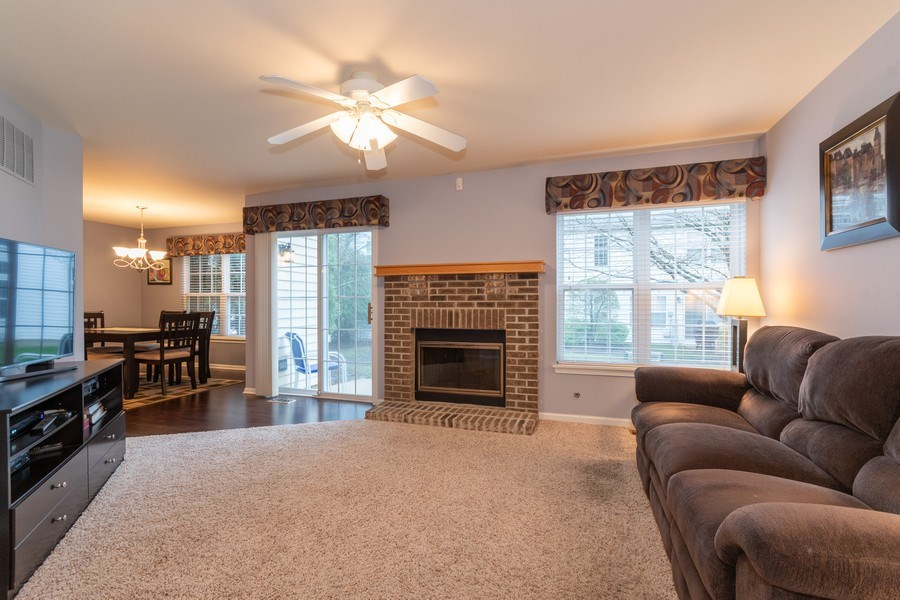 Real Estate Photography - 2759 Borkshire Ln, Aurora, IL, 60502 - Living Room