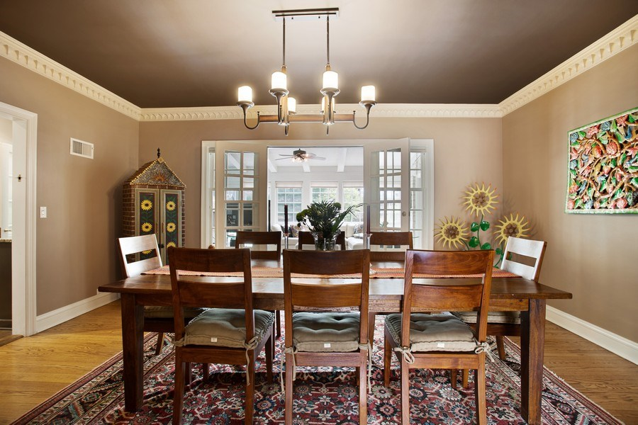 Real Estate Photography - 1727 Hinman Avenue, Evanston, IL, 60201 - Dining Room