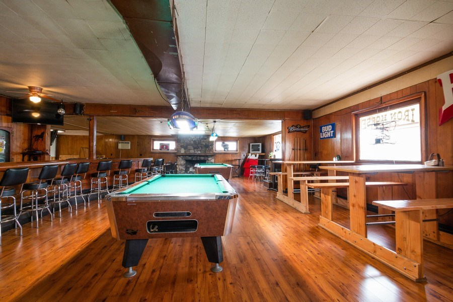Real Estate Photography - 124 North St, Sharon, WI, 53585 - Pool Tables