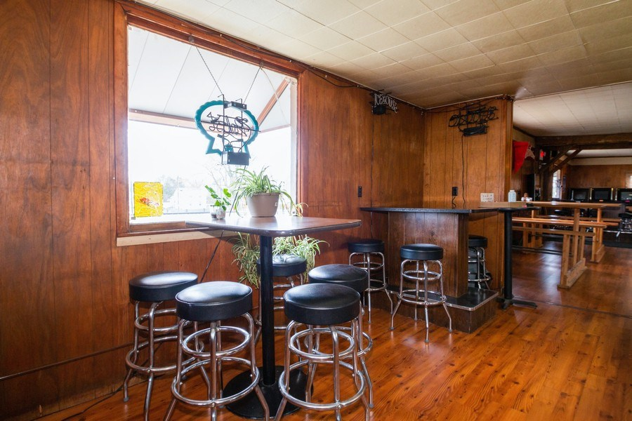 Real Estate Photography - 124 North St, Sharon, WI, 53585 - Pub Table Seating