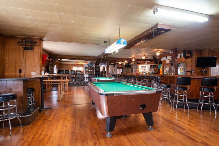 Real Estate Photography - 124 North St, Sharon, WI, 53585 - Bar Area