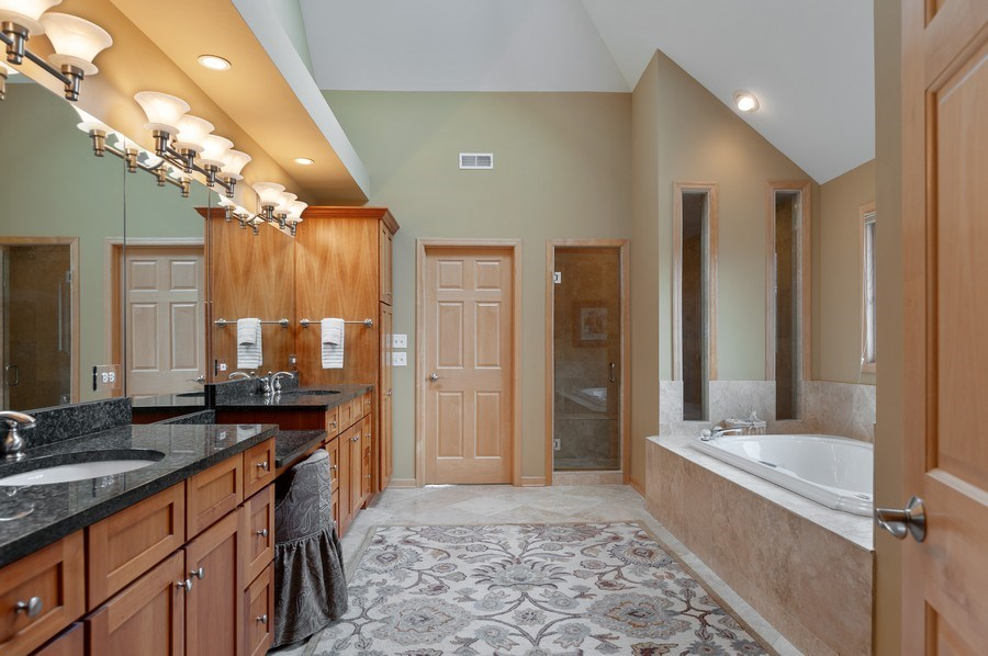 Real Estate Photography - 39716 Orchard Bluff Lane, Wadsworth, IL, 60083 - Master Bathroom Spa