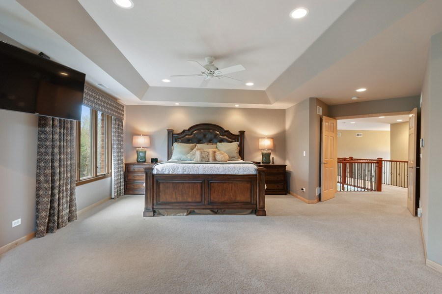 Real Estate Photography - 39716 Orchard Bluff Lane, Wadsworth, IL, 60083 - Master Bedroom