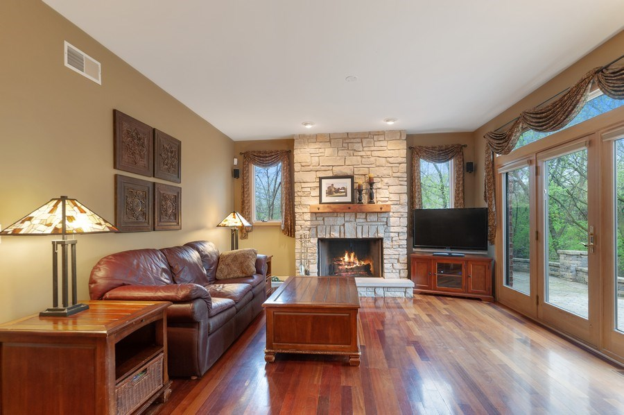 Real Estate Photography - 39716 Orchard Bluff Lane, Wadsworth, IL, 60083 - Hearth Room Off Of Kitchen