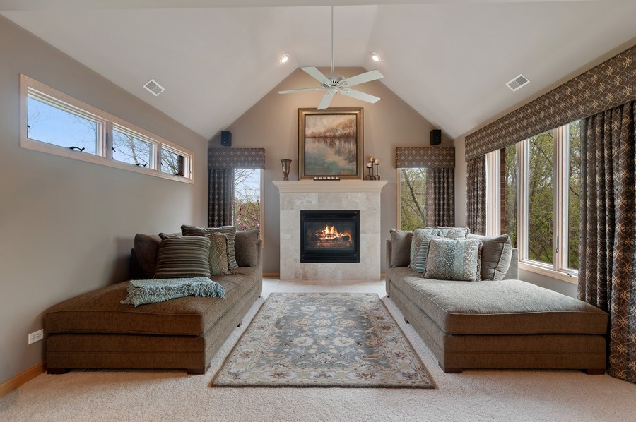 Real Estate Photography - 39716 Orchard Bluff Lane, Wadsworth, IL, 60083 - Master Sitting Room