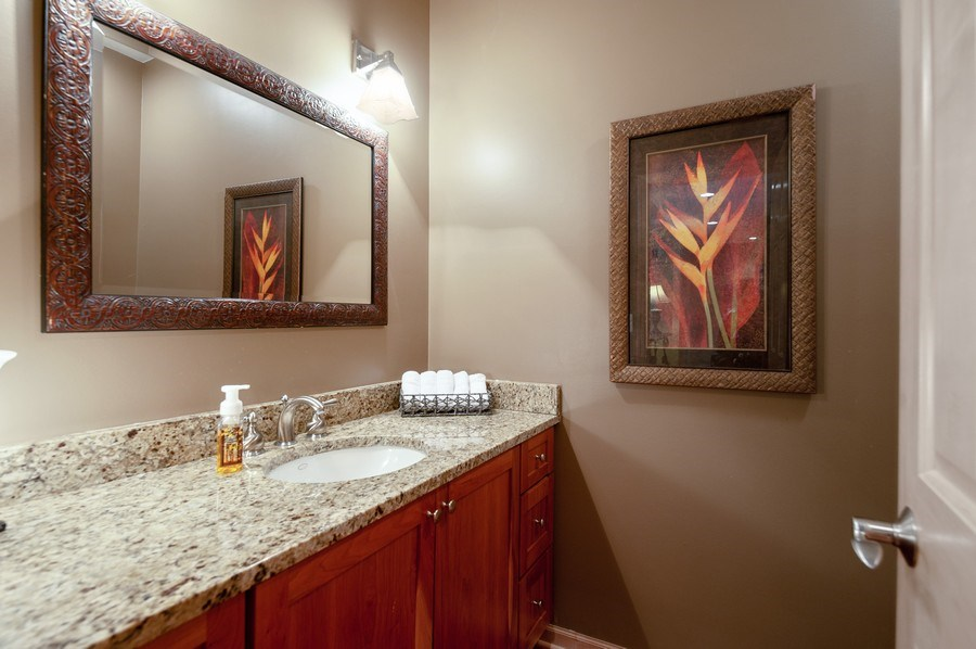 Real Estate Photography - 39716 Orchard Bluff Lane, Wadsworth, IL, 60083 - Powder Room