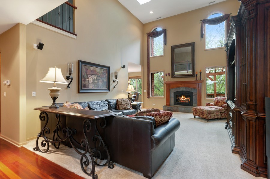 Real Estate Photography - 39716 Orchard Bluff Lane, Wadsworth, IL, 60083 - 2 Story Family Room