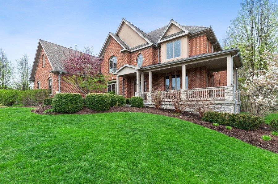 Real Estate Photography - 39716 Orchard Bluff Lane, Wadsworth, IL, 60083 - Side View With Ornamental Trees