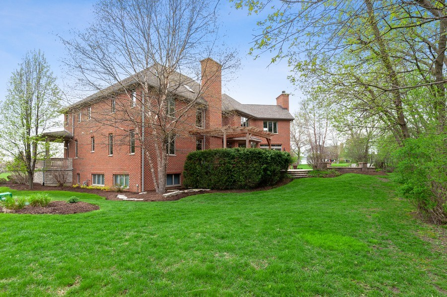 Real Estate Photography - 39716 Orchard Bluff Lane, Wadsworth, IL, 60083 - Tree-Line Rear View