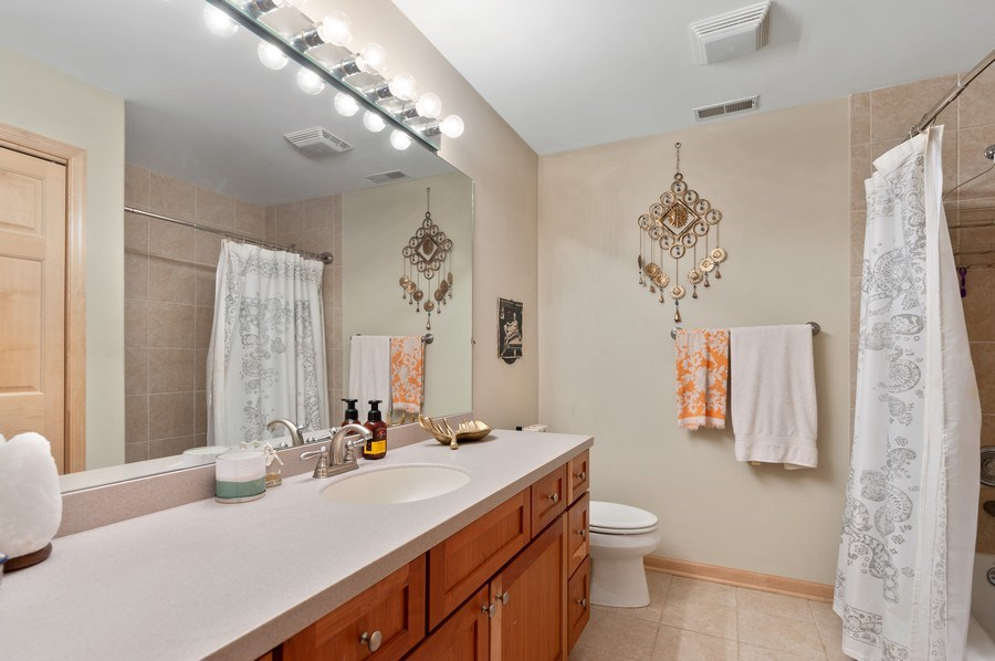 Real Estate Photography - 39716 Orchard Bluff Lane, Wadsworth, IL, 60083 - Guest Bathroom