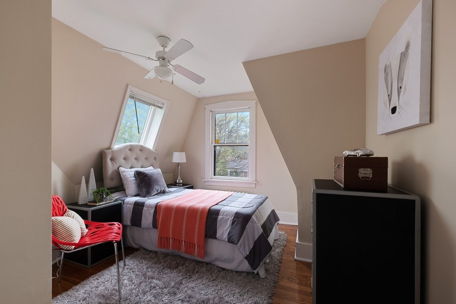 Real Estate Photography - 2447 Birchwood Ln, Wilmette, IL, 60091 - 3rd Bedroom