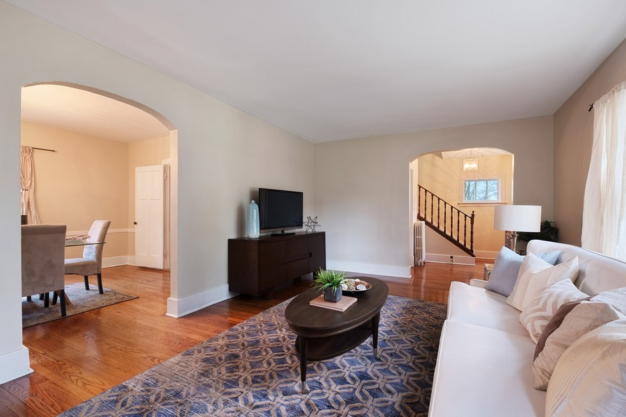 Real Estate Photography - 2447 Birchwood Ln, Wilmette, IL, 60091 - Living Room / Dining Room