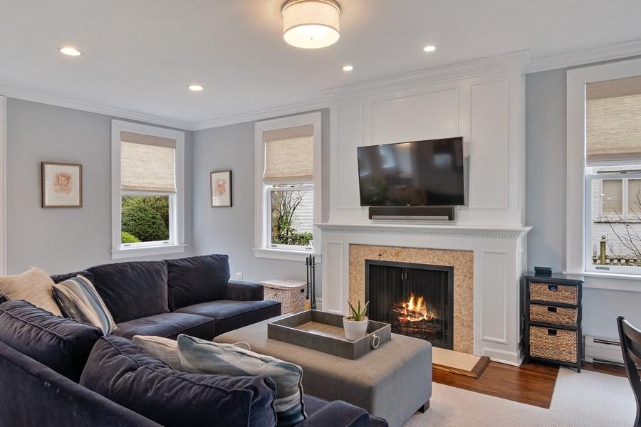 Real Estate Photography - 2757 Ridge Avenue, Evanston, IL, 60201 - Living Room