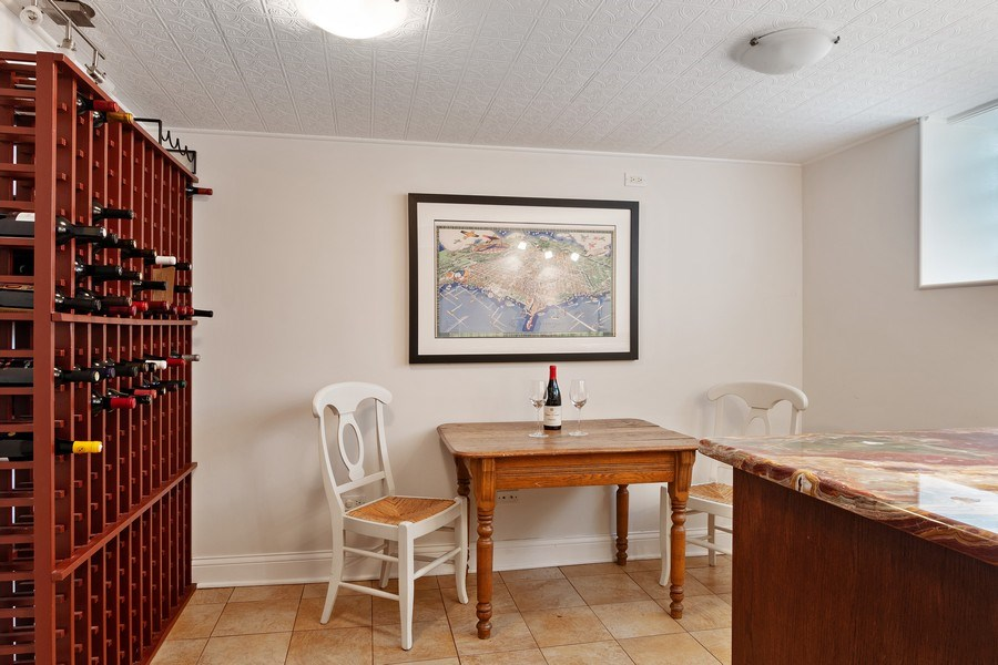 Real Estate Photography - 2757 Ridge Avenue, Evanston, IL, 60201 - Wine Cellar