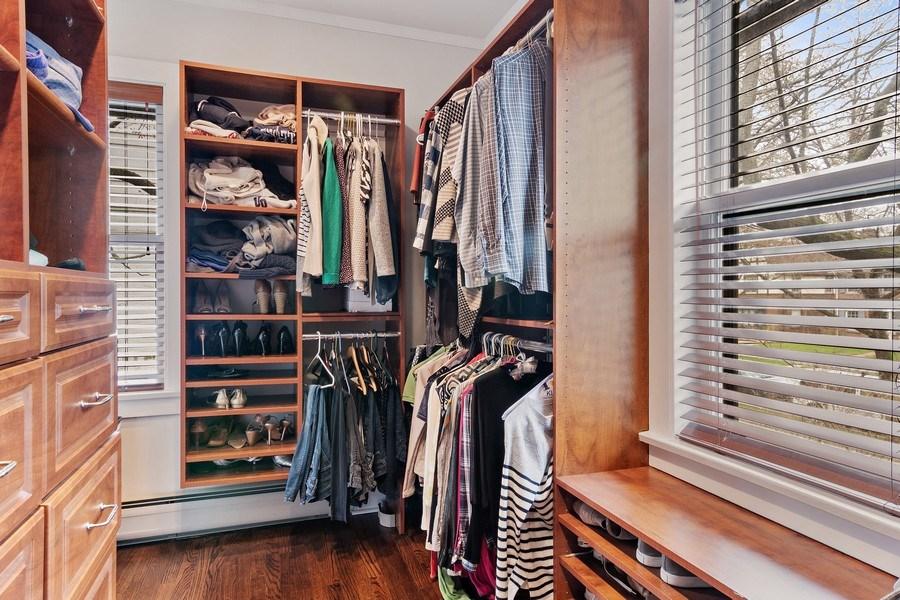 Real Estate Photography - 2757 Ridge Avenue, Evanston, IL, 60201 - Master Bedroom Closet