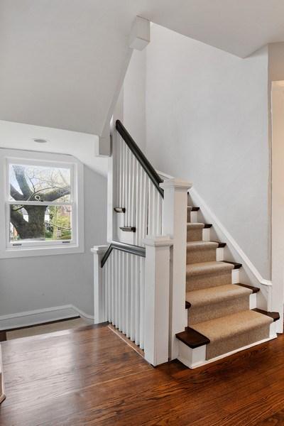 Real Estate Photography - 2757 Ridge Avenue, Evanston, IL, 60201 - Staircase