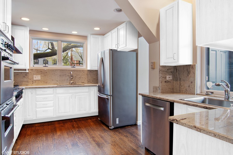 Real Estate Photography - 2757 Ridge Avenue, Evanston, IL, 60201 - Kitchen (virually painted)