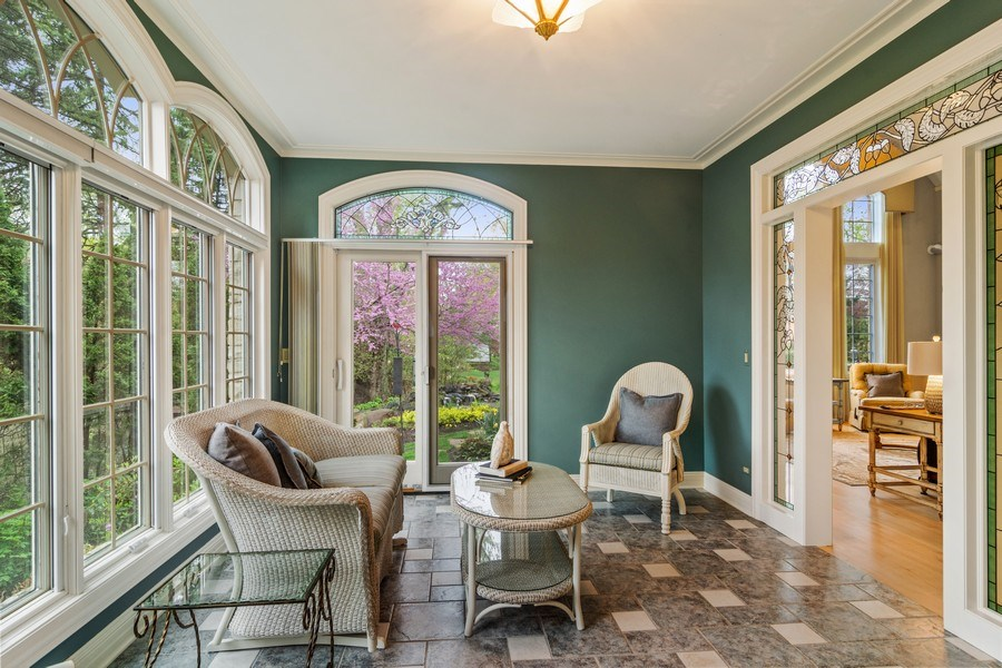 Real Estate Photography - 916 N. Forrest Avenue, Arlington Heights, IL, 60004 - Sunroom-Opportunity to relax w/nature views