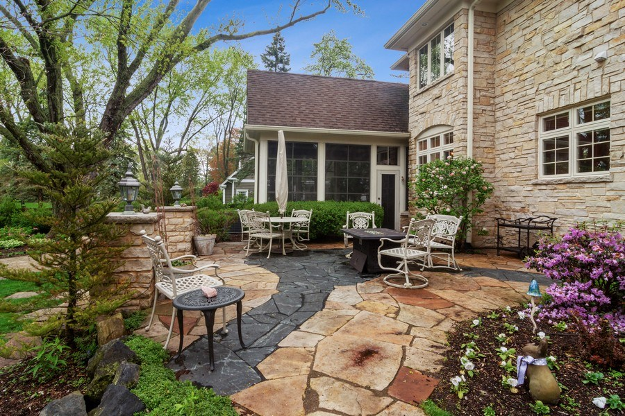 Real Estate Photography - 916 N. Forrest Avenue, Arlington Heights, IL, 60004 - Stone Terrace with access from Screened Porch