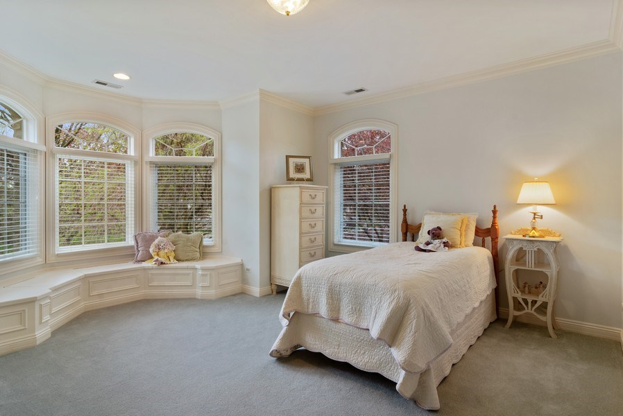 Real Estate Photography - 916 N. Forrest Avenue, Arlington Heights, IL, 60004 - 2nd Bedroom with built In window seat