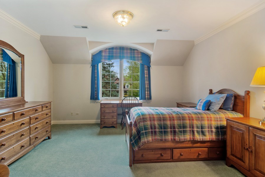 Real Estate Photography - 916 N. Forrest Avenue, Arlington Heights, IL, 60004 - 3rd Bedroom with custom arched window