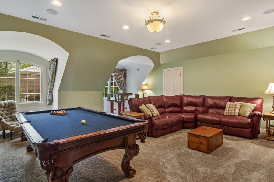 Real Estate Photography - 916 N. Forrest Avenue, Arlington Heights, IL, 60004 - 2nd Level Bonus Rm for movie night/recreation