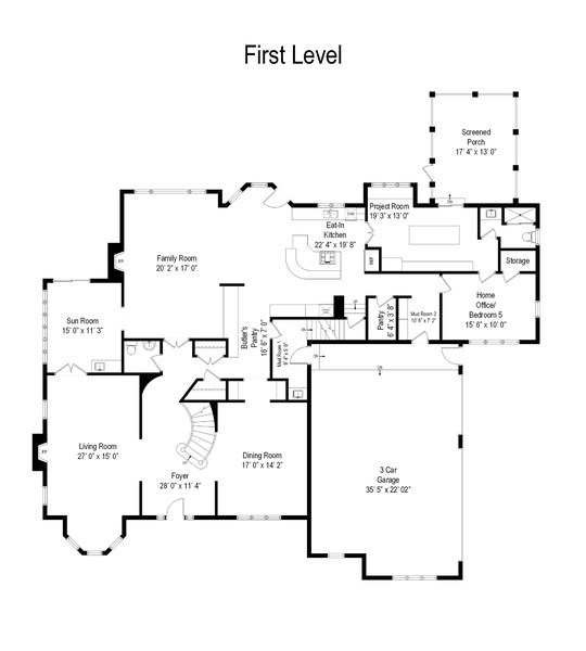 Real Estate Photography - 916 N. Forrest Avenue, Arlington Heights, IL, 60004 - Floor Plan Level 1