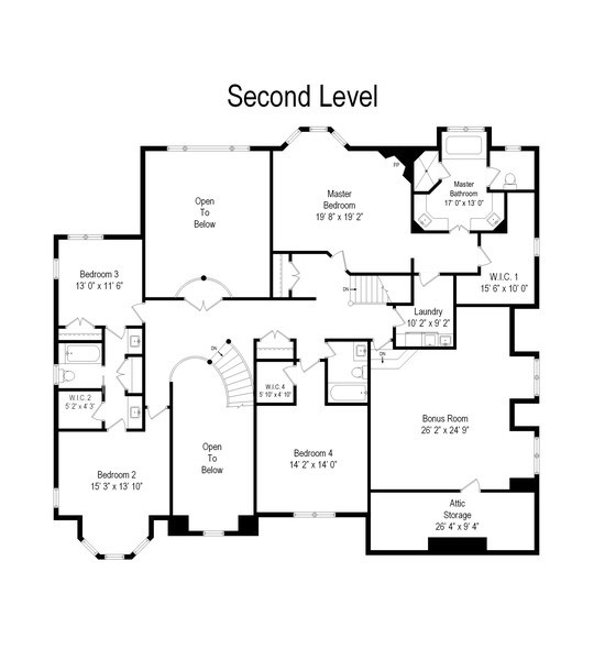 Real Estate Photography - 916 N. Forrest Avenue, Arlington Heights, IL, 60004 - Floor Plan Level 2