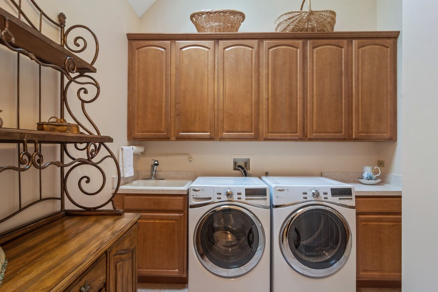 Real Estate Photography - 916 N. Forrest Avenue, Arlington Heights, IL, 60004 - Convenient 2nd Flr Laundry Room w/skylight