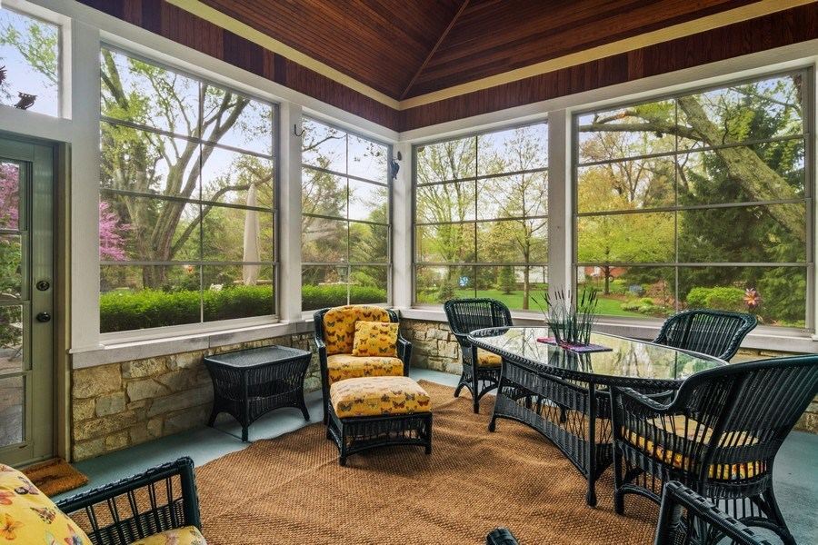 Real Estate Photography - 916 N. Forrest Avenue, Arlington Heights, IL, 60004 - Screened Porch protects from elements w/yard views
