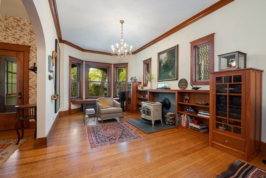Real Estate Photography - 5310 North Magnolia Ave, Chicago, IL, 60640 - Living Room