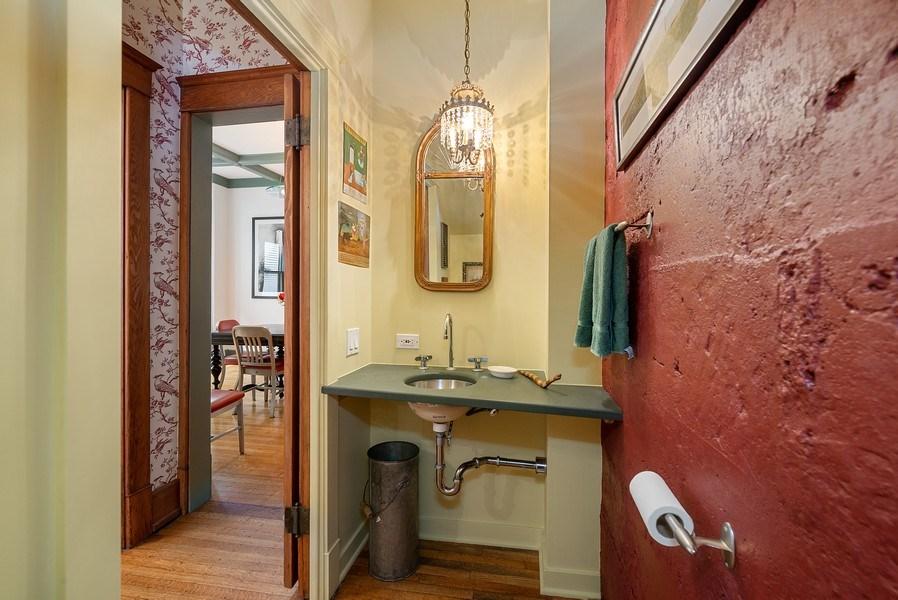 Real Estate Photography - 5310 North Magnolia Ave, Chicago, IL, 60640 - Powder room