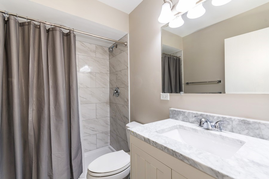 Real Estate Photography - 4N064 Norris Avenue, West Chicago, IL, 60185 - 2nd Bathroom