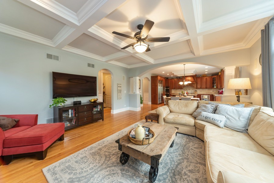 Real Estate Photography - 1172 N. Beverly Lane, Arlington Heights, IL, 60004 - Family Room