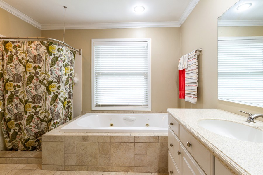 Real Estate Photography - 5321 W. Shore Drive, Mchenry, IL, 60050 - Master Bathroom
