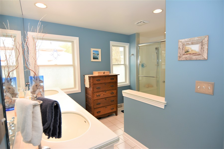 Real Estate Photography - 24740 W. Miller Road, Barrington, IL, 60010 - Master Bath at Entry