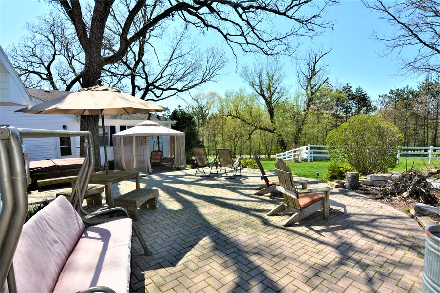 Real Estate Photography - 24740 W. Miller Road, Barrington, IL, 60010 - Paver Brick Patos and Pasture views